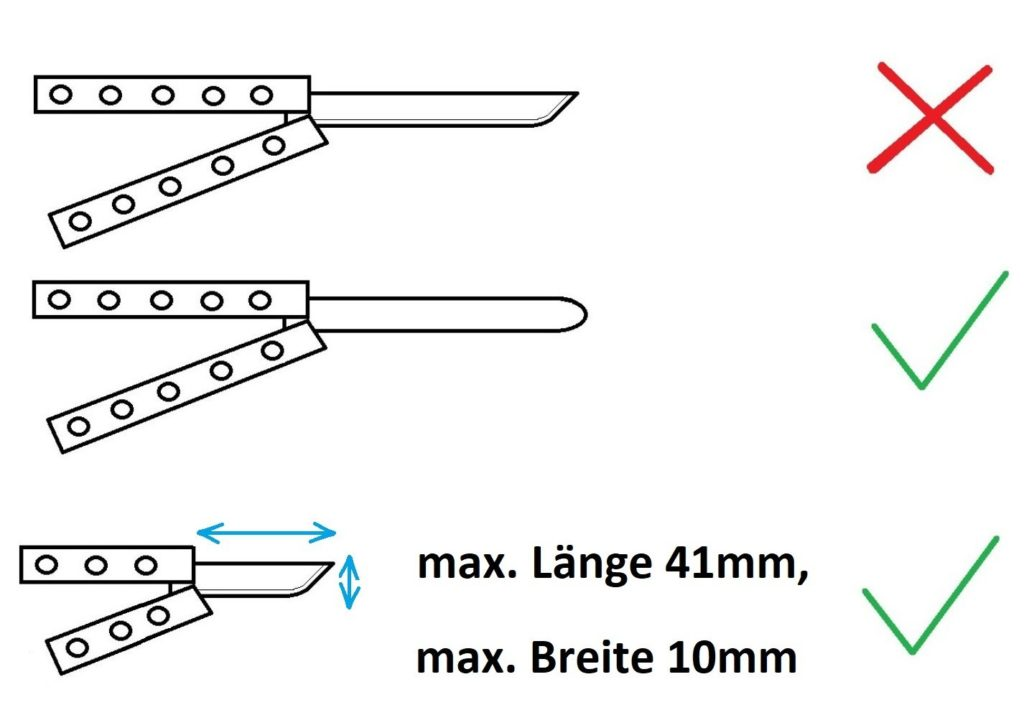 legales Butterfly messer, verbotenes Butterfly messer